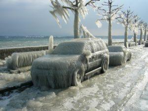 sognare ghiaccio sulla strada