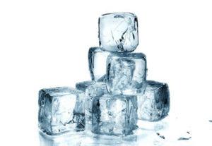 sognare ghiaccio a cubetti
