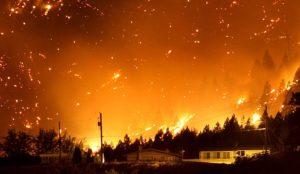 sognare fuoco dal cielo