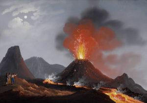 sognare vulcano erutta