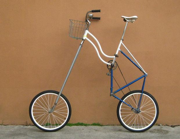 sognare bicicletta altissima