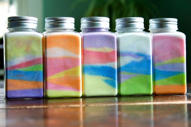 sognare sabbia colorata
